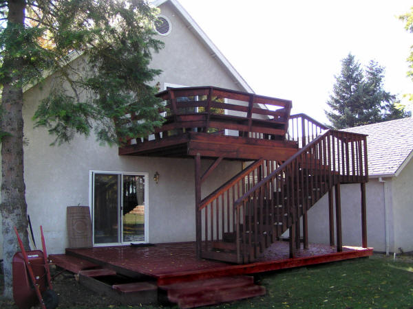 Deck on back of house.
