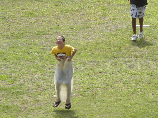 Josiah in the Sack Race
